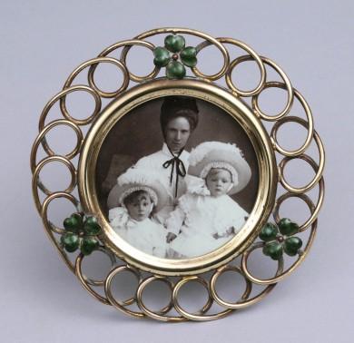 Antique Small Round Loop Frame, Circa 1890