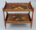 Antique English Chinoiserie Two-Tiered Etagere