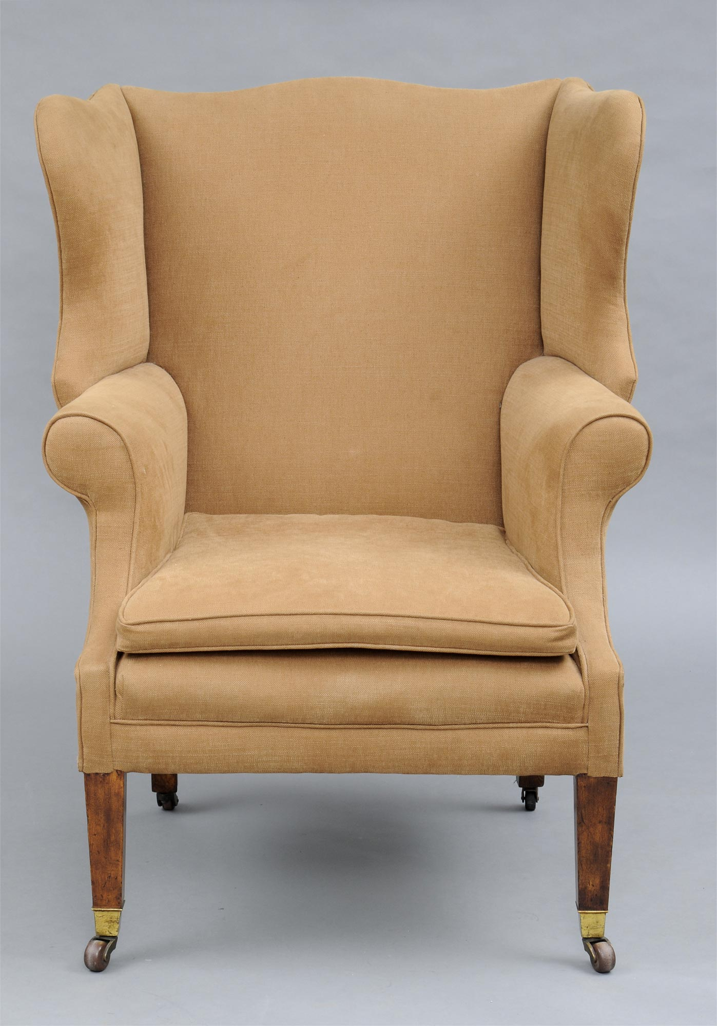 Antique wingback chair styles -  Antique English George Iii Style Mahogany Ash Wing Chair 19th Century