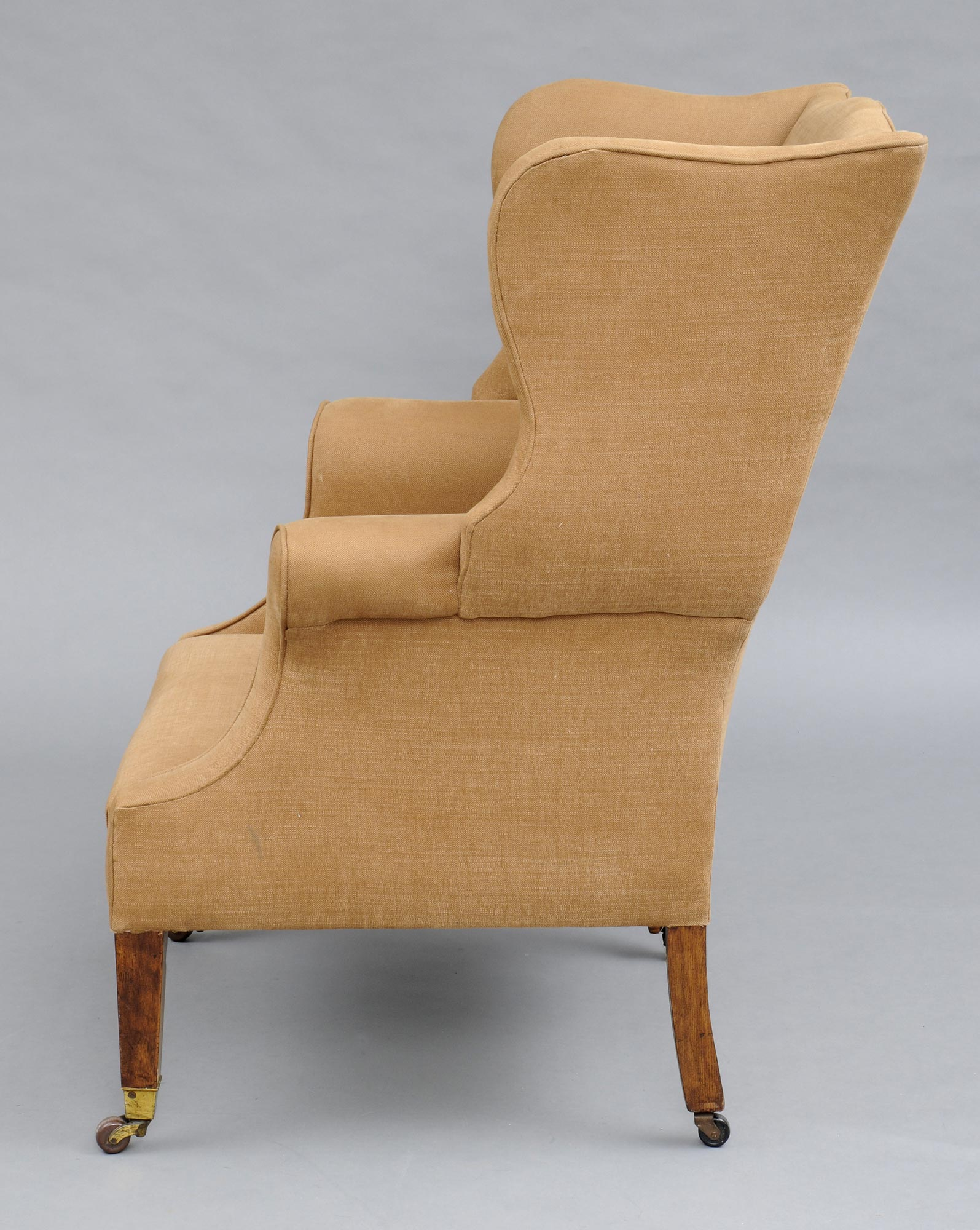 antique english george iii style mahogany u0026 ash wing chair 19th century