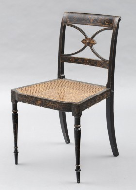 English Antique Regency Lacquered Chair