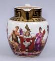 English Very Rare Pottery Bacchus & Ceres Jug, Circa 1810