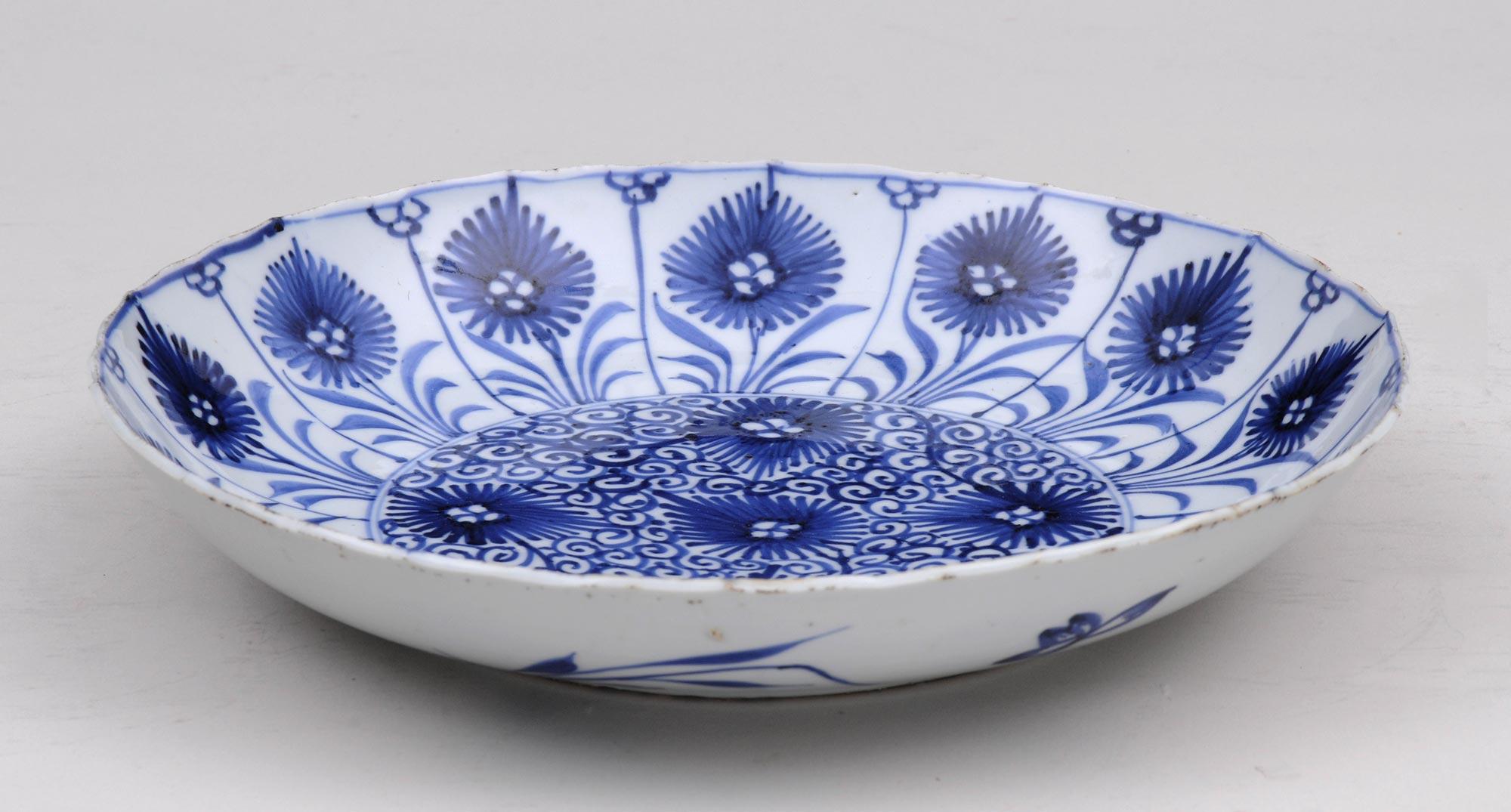 Chinese Kang Xsi Blue Amp White Plate Circa 1662 1722