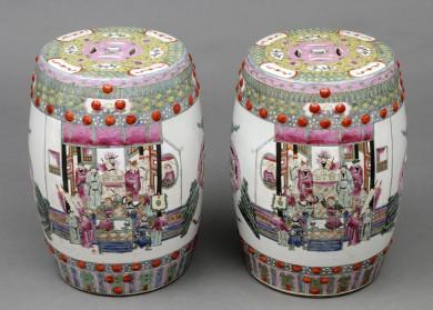 Pair Chinese Garden Seats