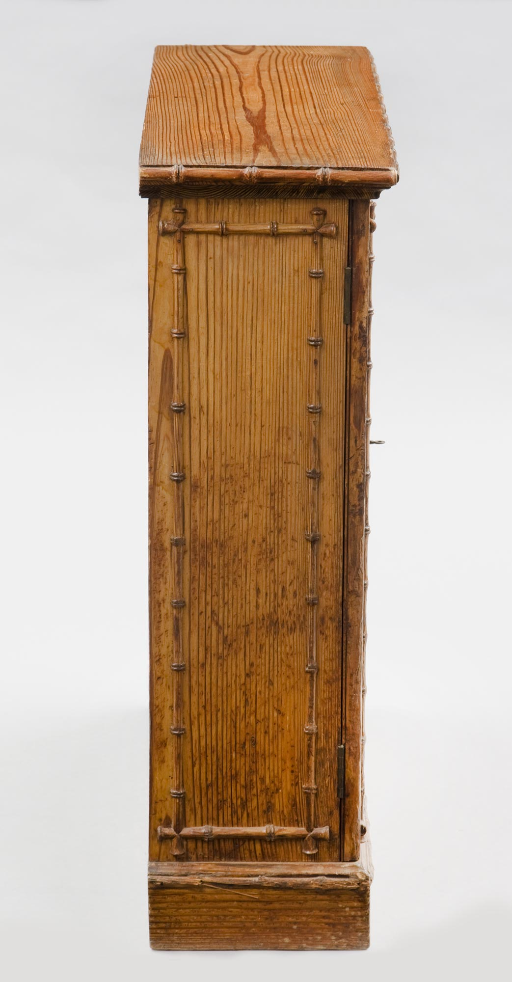 Superieur ... Pine English Antique Faux Bamboo Cabinet ...