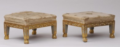 Pair Antique Italian Footstools