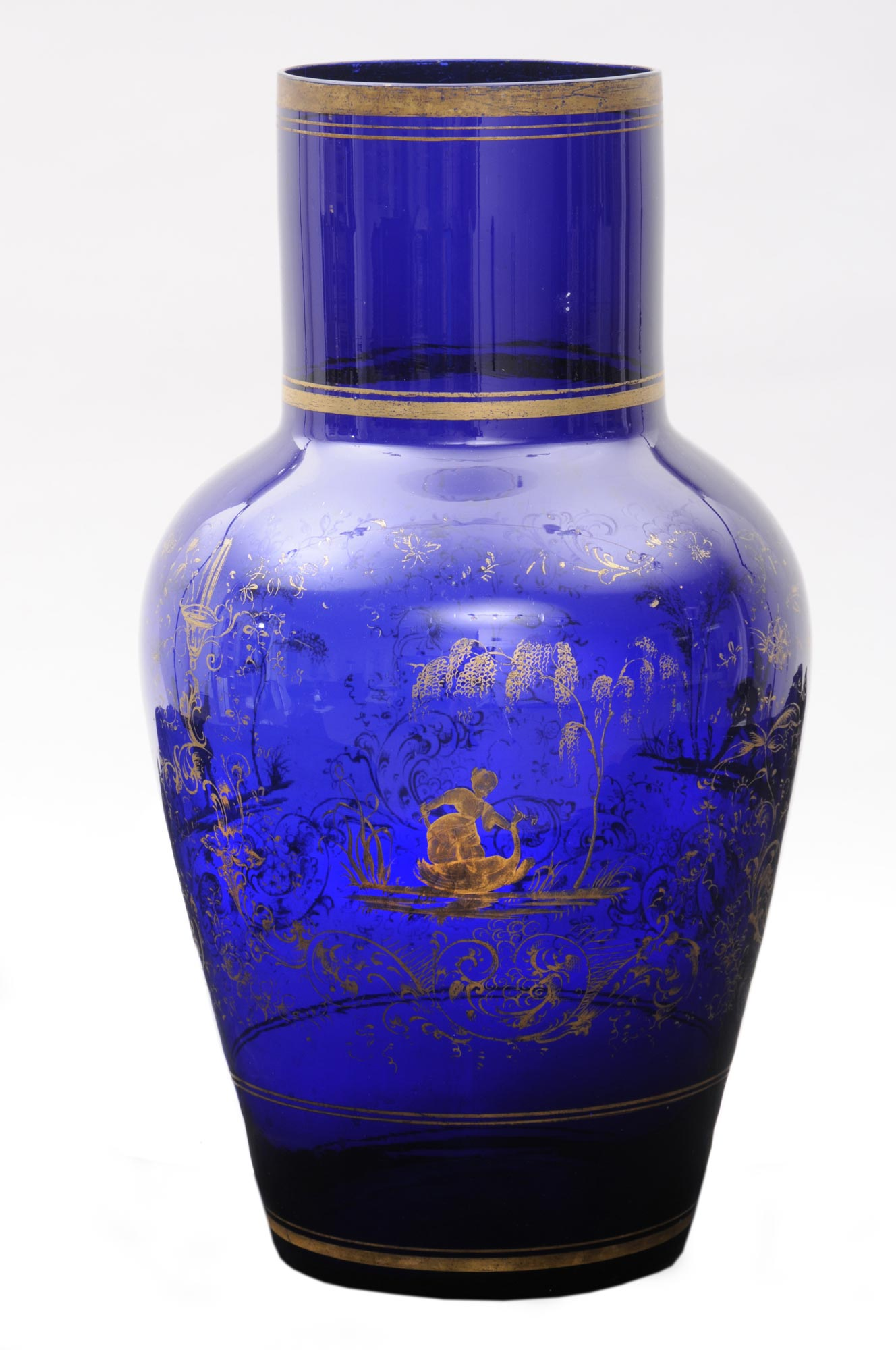 u00bb product  u00bb larage cobalt blue vase