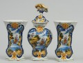 Dutch Delft Assembled Garniture Set, 18th Century