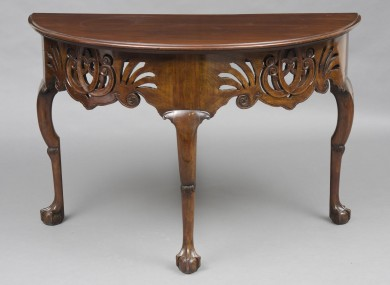 Late 18th Century Portuguese Demi-lune Console Table