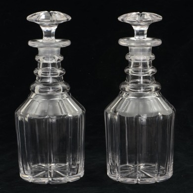 Pair Cut-Crystal Decanters