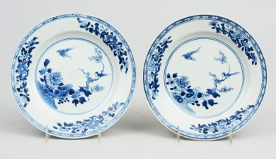Pair Chinese Qianlong Plates