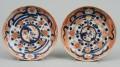 Pair Chinese Imari Plates