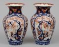 Pair Large Japanese Imari Open Vases, Circa 1870