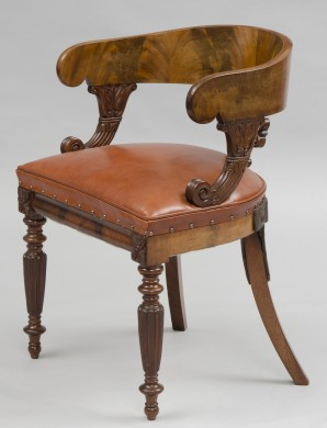 English William IV Desk Chair
