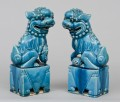 Chinese Pair Turquoise Foo Dogs