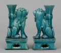 Pair Chinese  Foo Lion Incense Holders