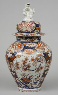 Early Japanese Imari Vase and Lid