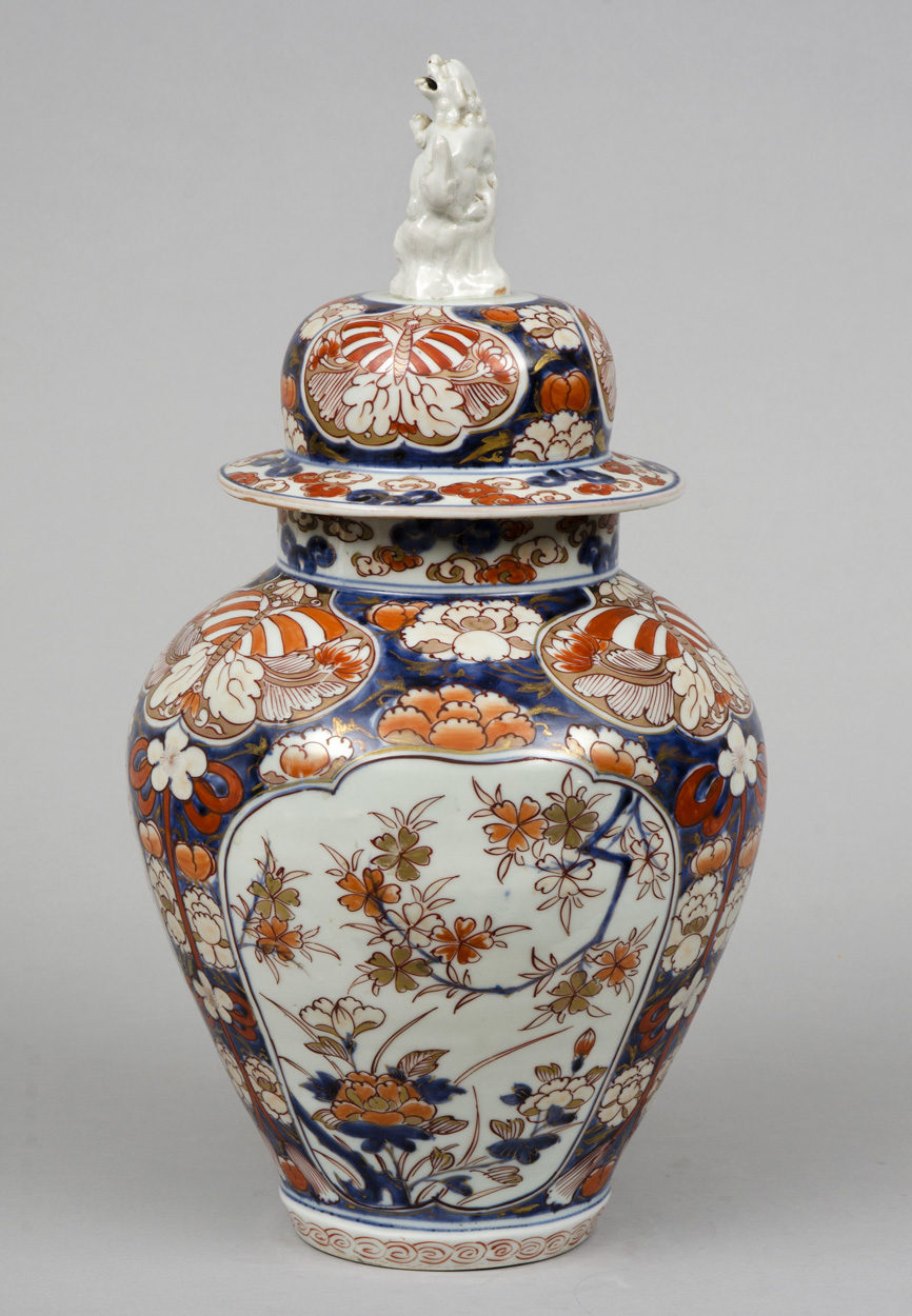 Early Japanese Imari Vase And Lid Circa 1720