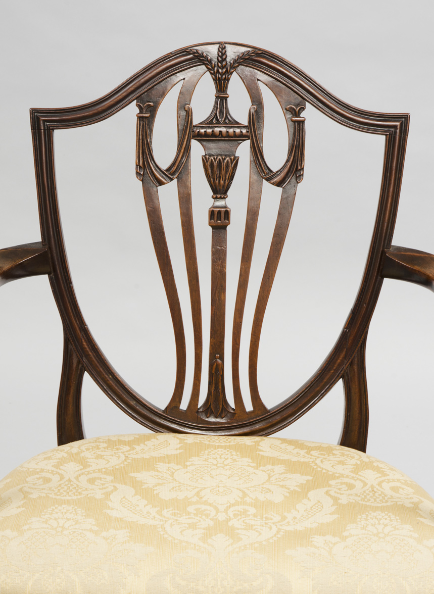 ... Antique English Period Hepplewhite Shield Back Armchair, 18th Century  ...