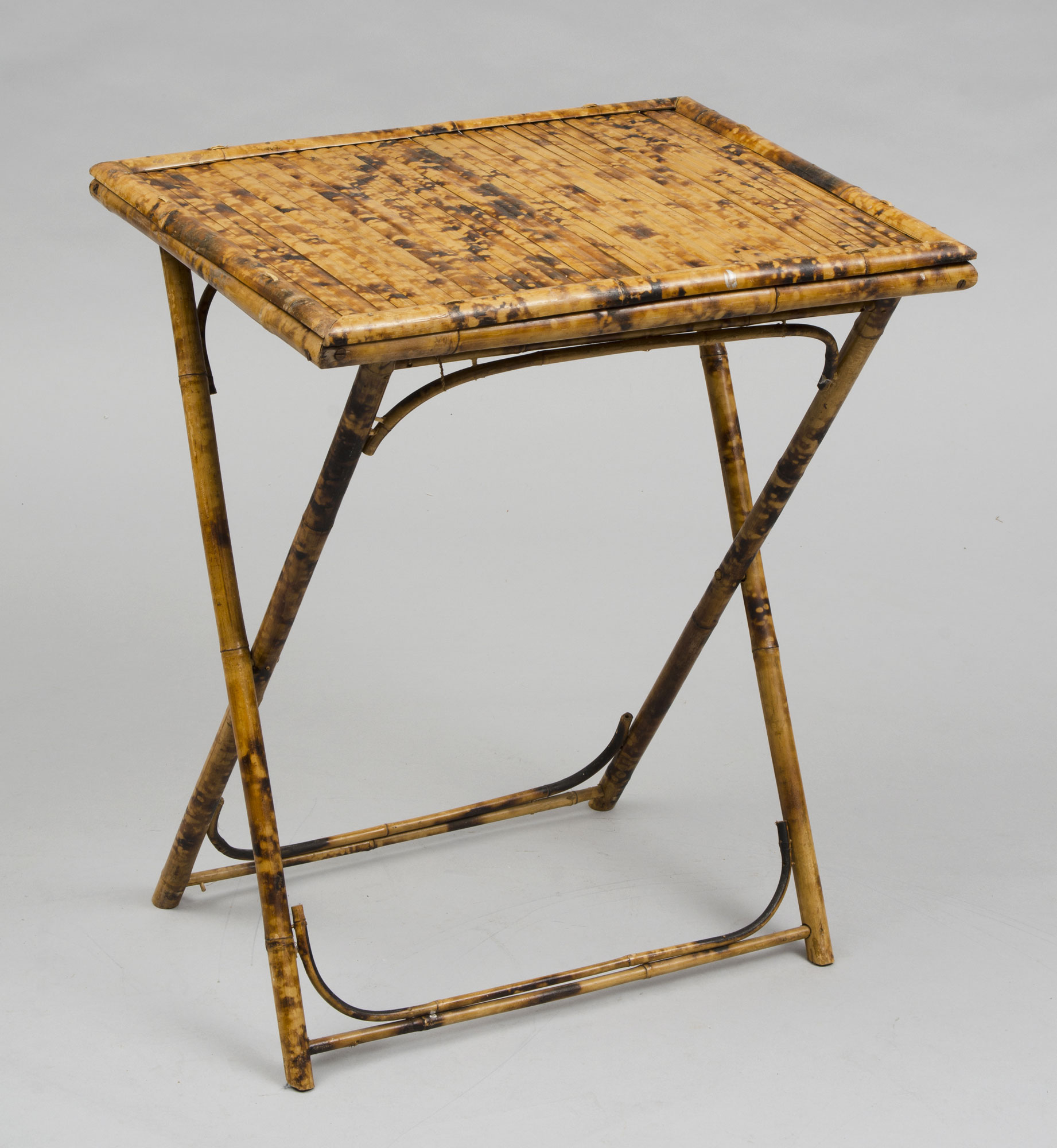 ... Pair Of Antique English Bamboo Folding Tables ...
