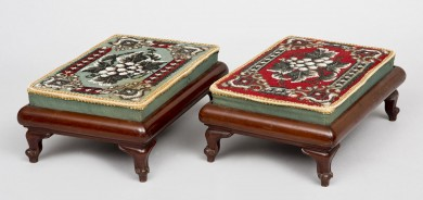 Pair of Beaded Footstools
