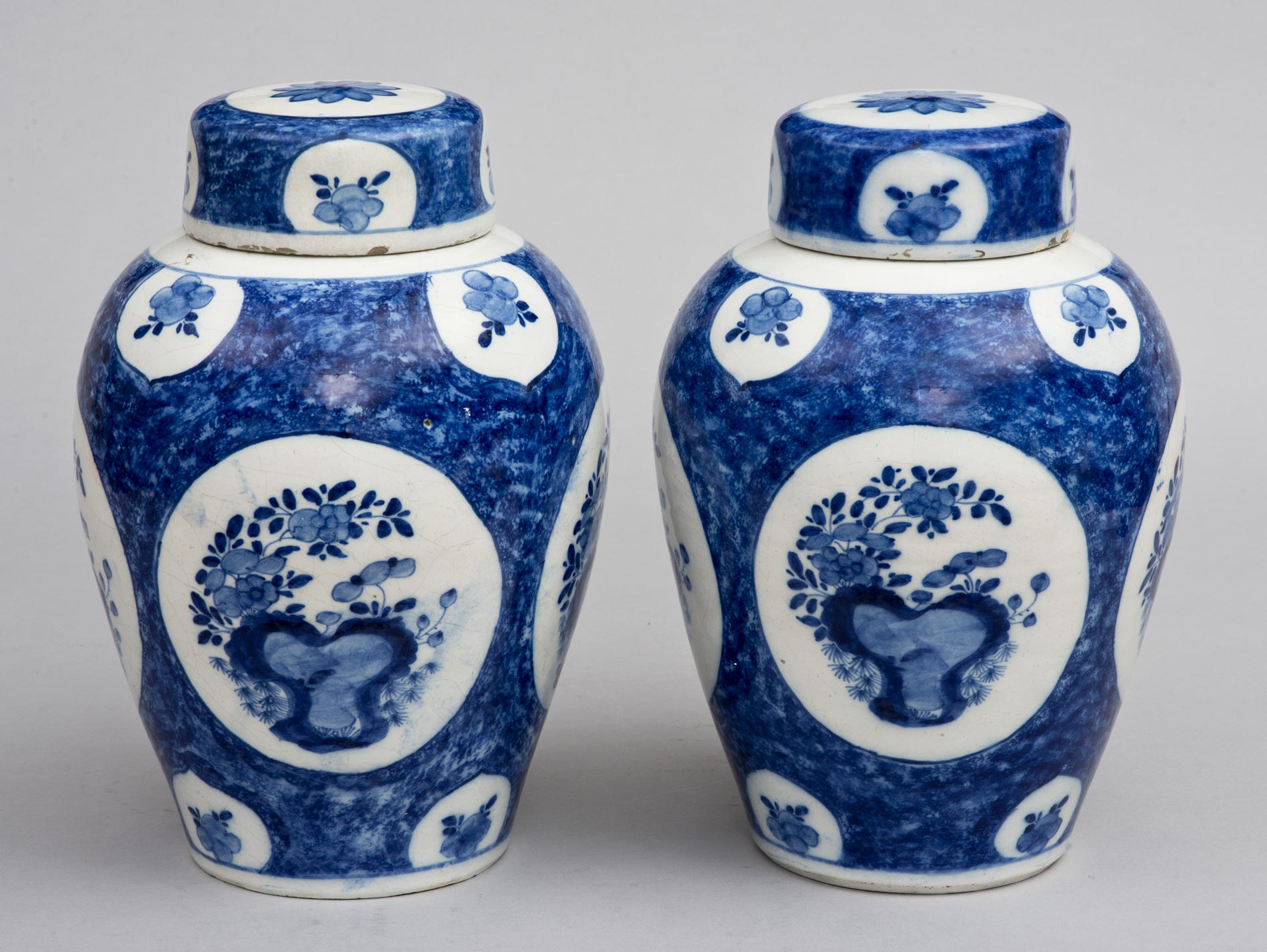 Pair dutch delft blue and white vases and lids 18th century pair dutch delft blue and white vases and lids18th century reviewsmspy