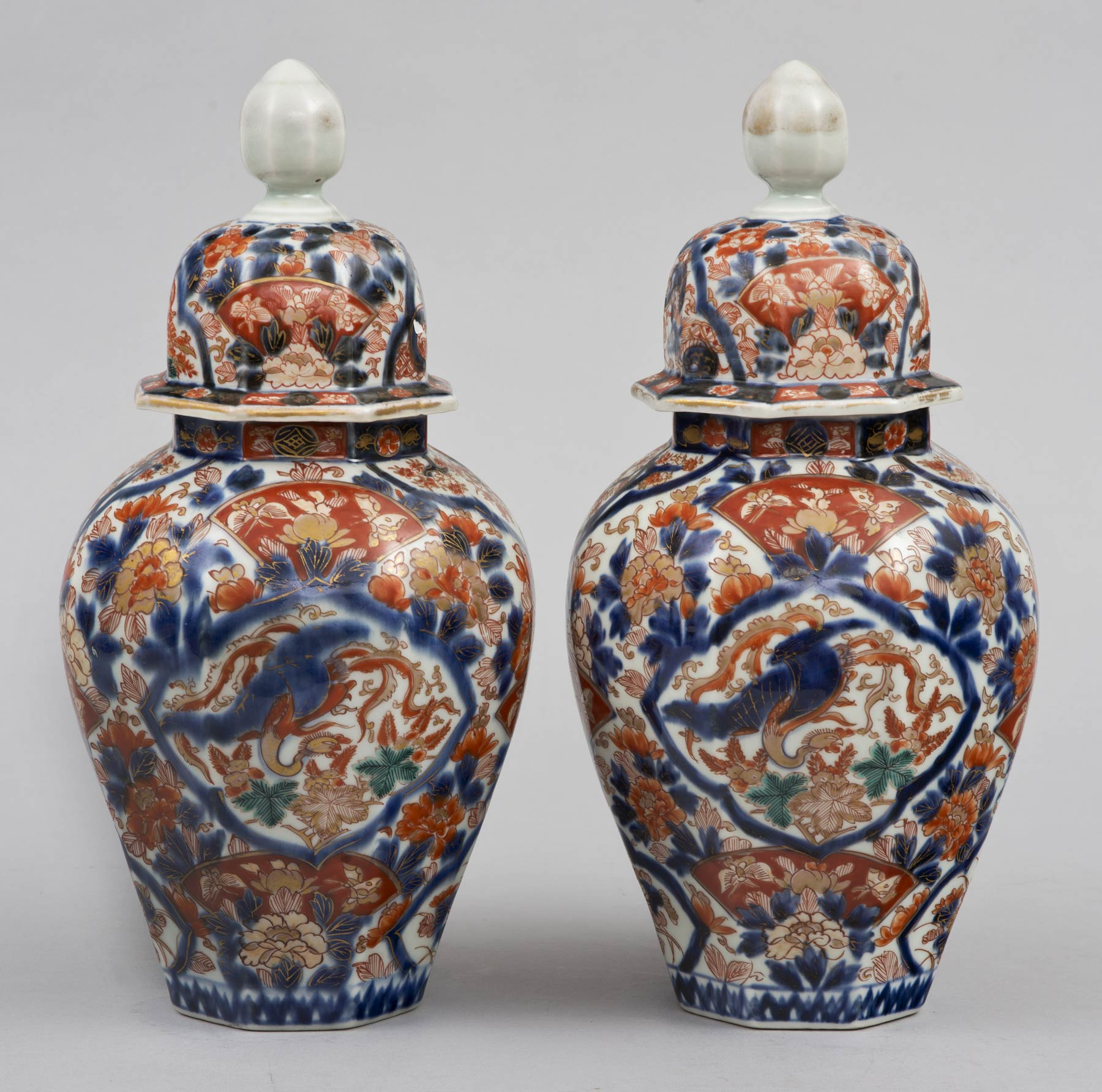 Product pair imari vases with lids circa 1860 pair imari vases with lids reviewsmspy
