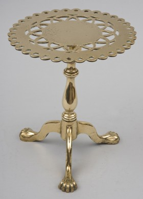 Brass Trivet on Tripod Base, Circa 1830