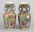 Chinese Pair of Mandarin Vases, Circa 1825