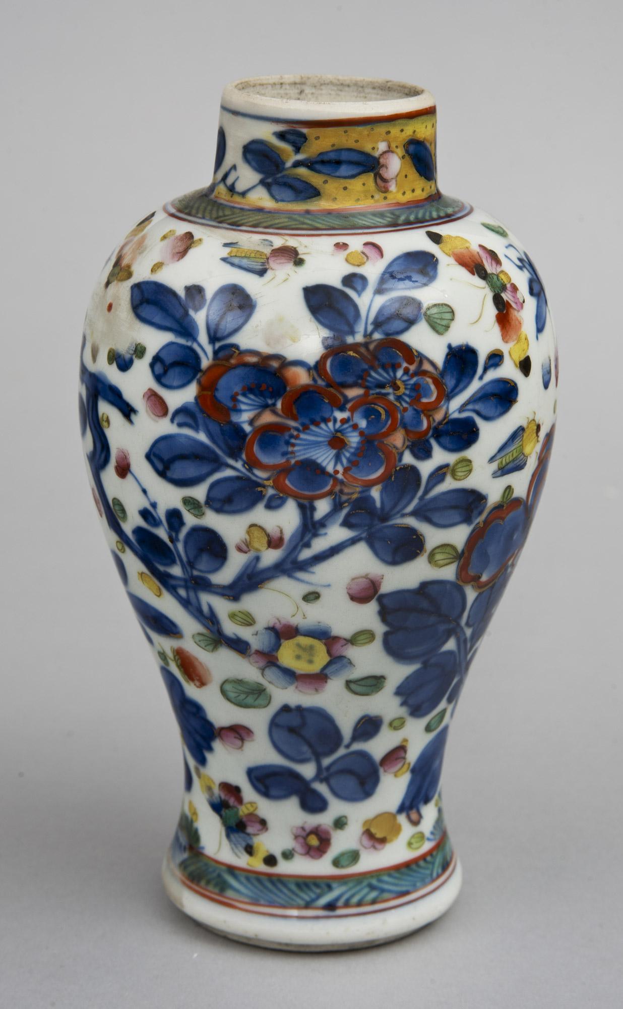 Chinese Qianlong Clobbered Vase Circa 1700