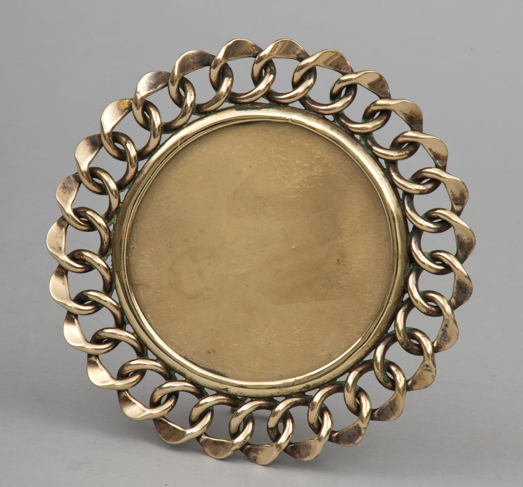 round brass ring frame circa 1880