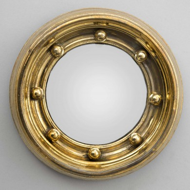 Miniature Convex Mirror, Circa 1870