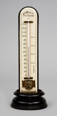 Antique Large Thermometer on Stand, Circa 1880