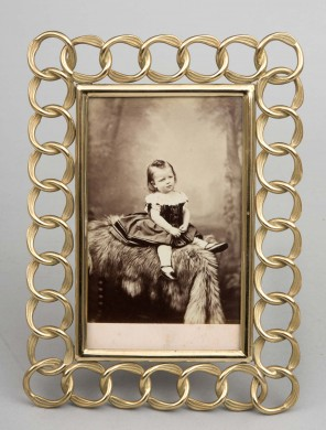 Rectangular Brass Photo Frame, Circa 1890