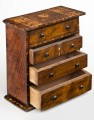 Miniature Walnut Inlaid Chest, Circa 1790