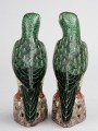 Pair Chinese Colorful Parrots, Circa 1850