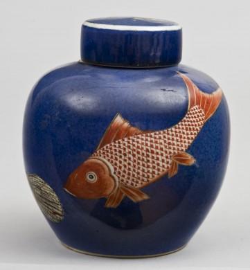 Small Chinese Blue Jar, Circa 1880