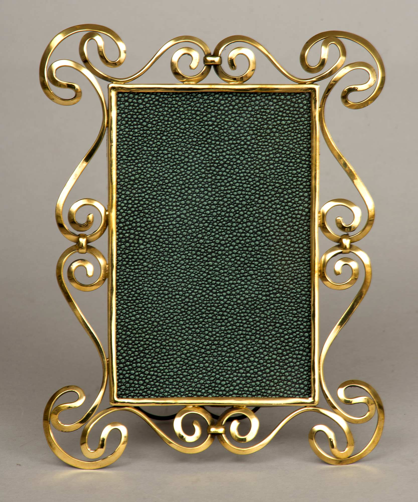 antique brass art nouveau frame circa 1900