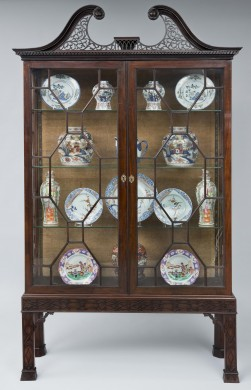 George III Mahogany Glazed Display Cabinet, Circa 1790