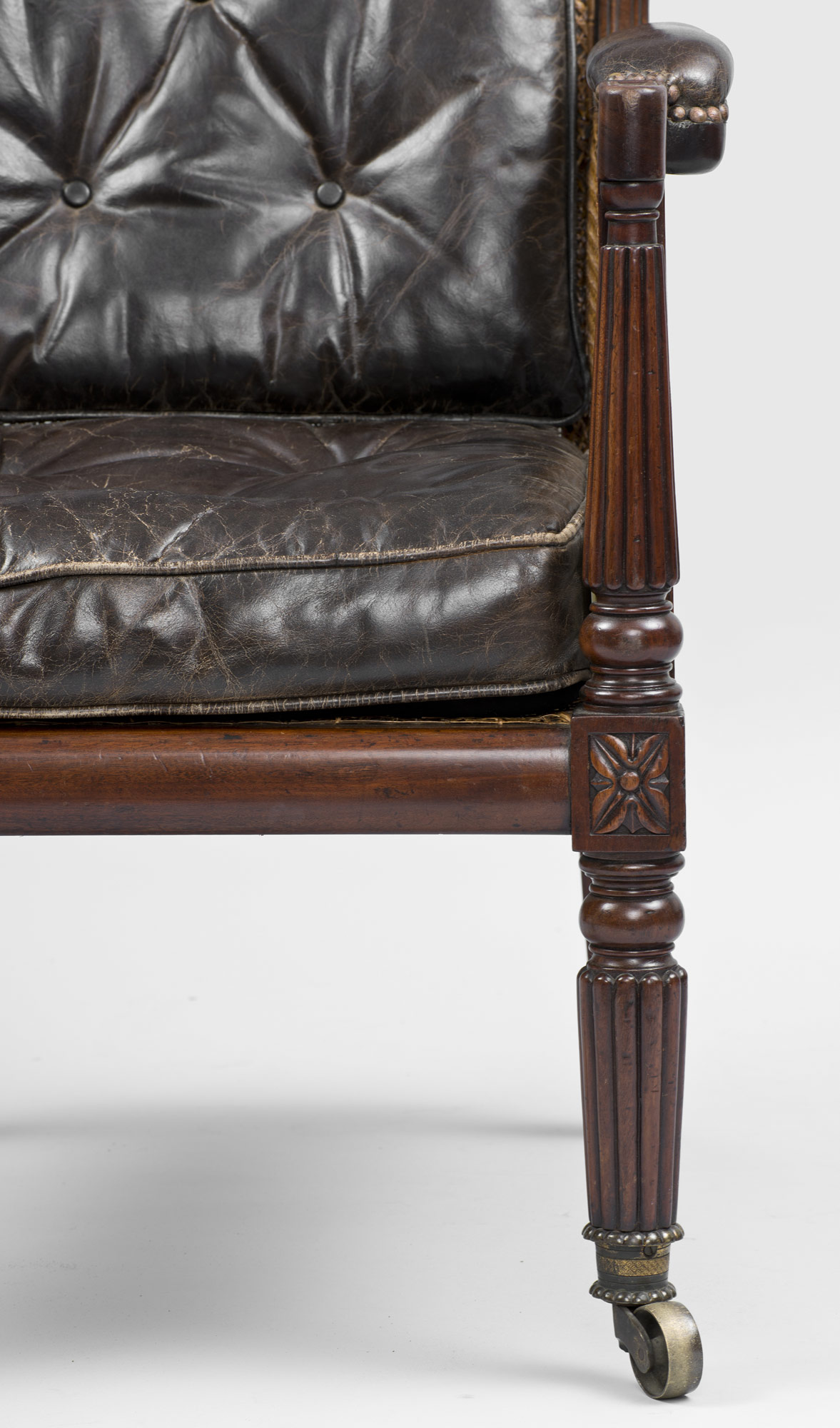 Antique Armchairs | English Regency Mahogany Library Caned ...
