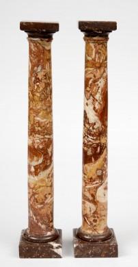 Italian Grand Tour Marble Columns, Circa1870