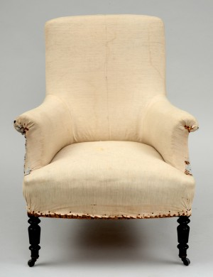 French Napoleon III Armchair, Circa 1870