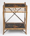 Bamboo Japanned Side Tray Table, Circa 1890
