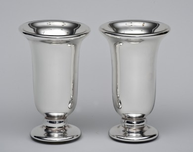 Pair of Mercury Glass Vases By Varnish