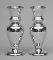 Pair of Victorian Mercury Glass Vases, Circa 1870