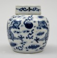 Chinese Small Porcelain Jar with Dragons