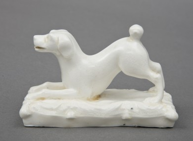 Staffordshire Porcelain Dog Paperweight