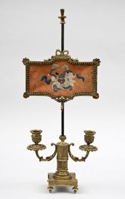 Antique French Gilded Bouillotte Candelabra Lamp