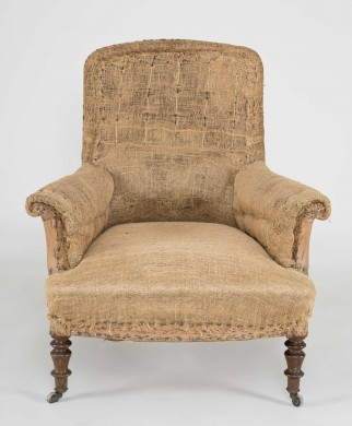 French Square Back Armchair, Circa 1890