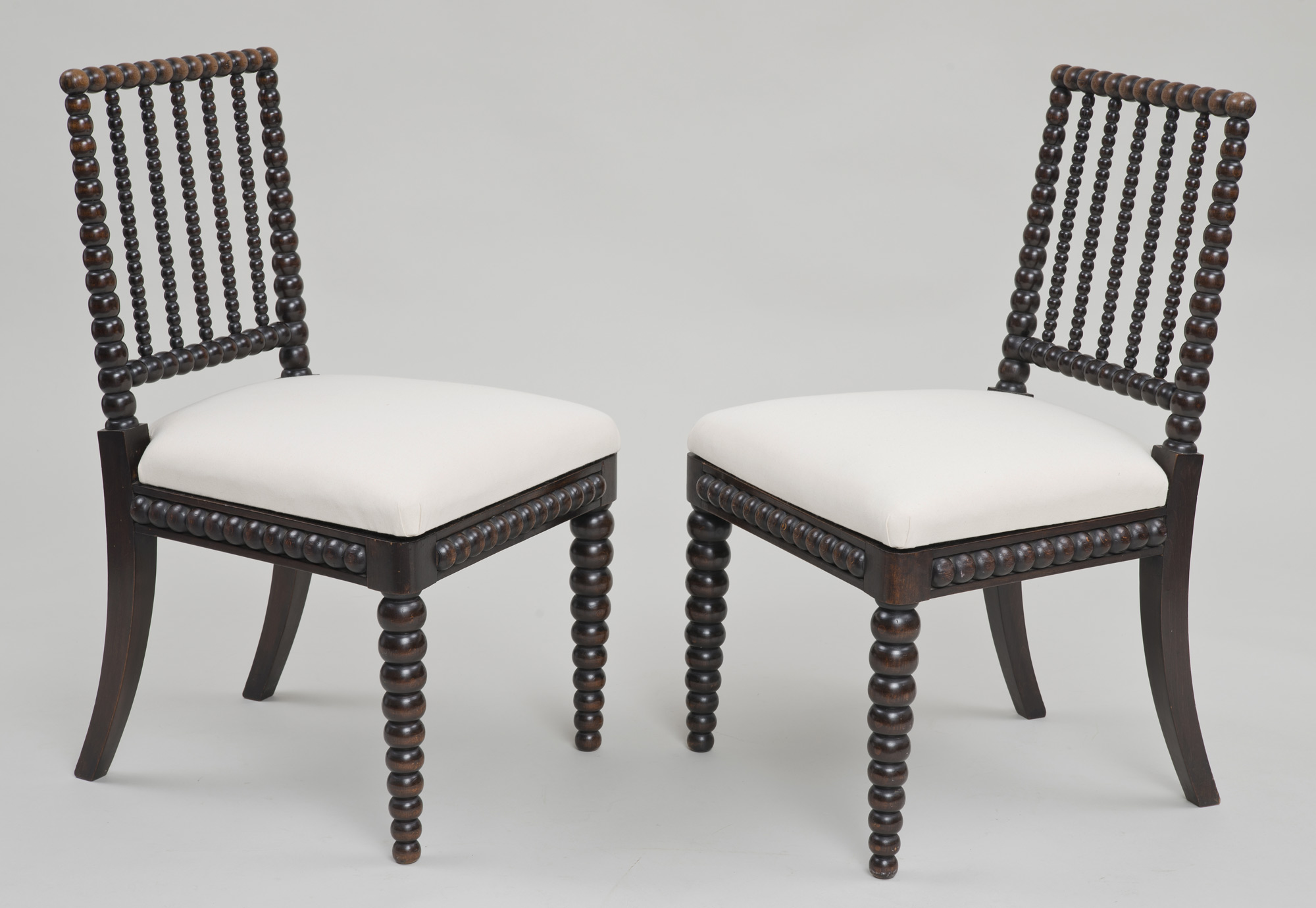 Product Pair Late Regency Bobbin Turned Side Chairs Circa 1820